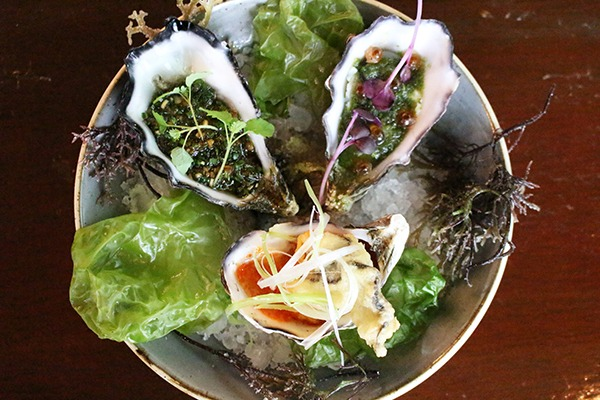 Coffin bay oysters 3 ways